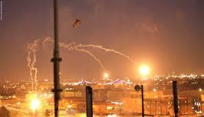 سقوط صاروخ قرب احدى بوابات المنطقة الخضراء