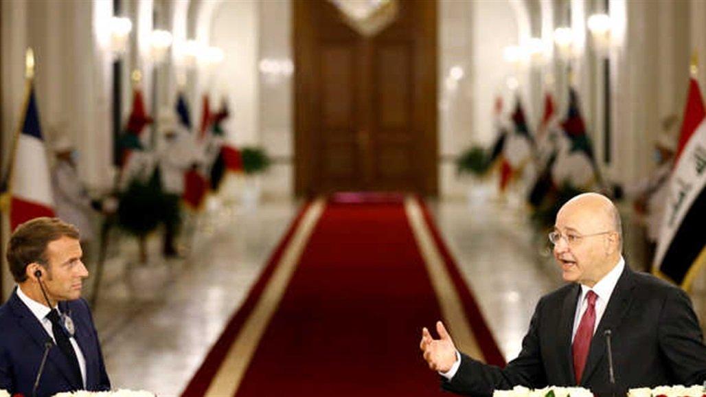 ماكرون يغرد بشأن العراق: سنعمل مع شركائنا على تحشيد المجتمع الدولي