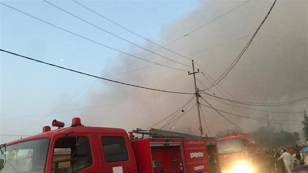 """الدفاع المدني تعلن اخماد حريق في مشروع """"بزل"""" شمال غربي بغداد"""