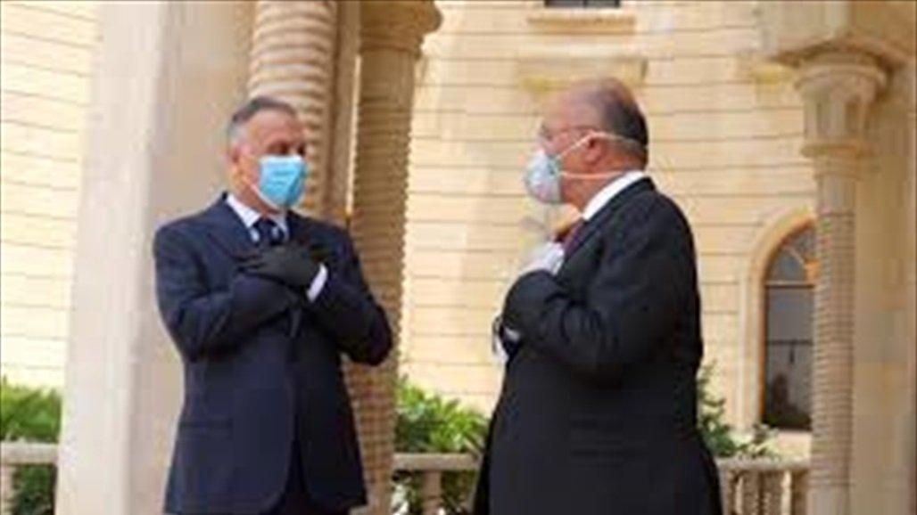 الكاظمي يبحث مع صالح في السليمانية تحضيرات الانتخابات المقبلة