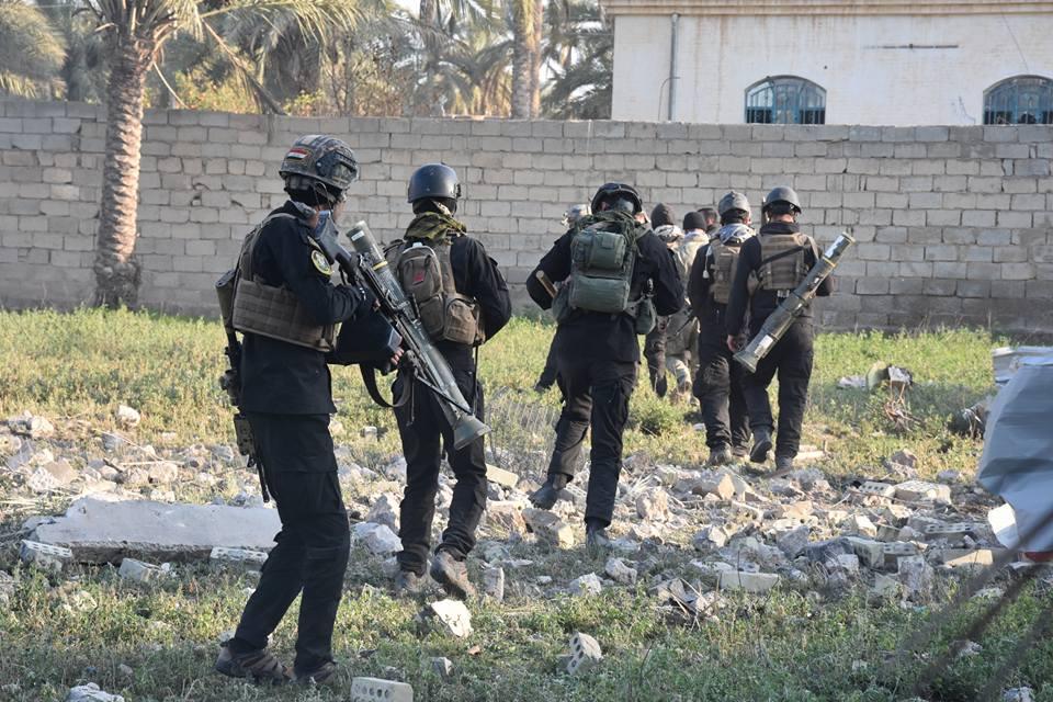 القوات الامنية تطهر منطقتي البو ريشة وطوي شمال الرمادي