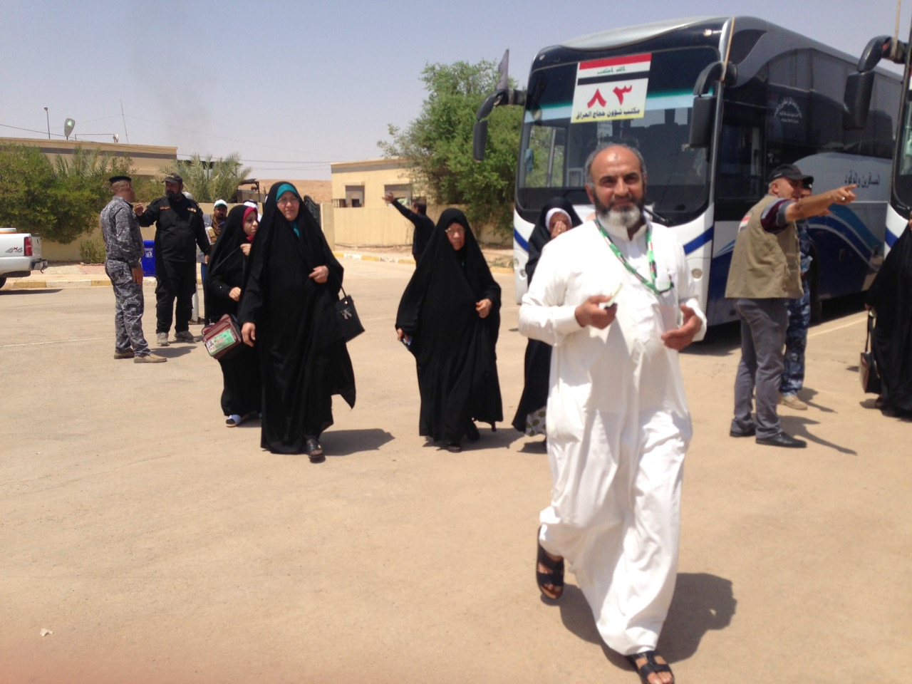 ادارة منفذ عرعر تعلن انتهاء تفويج الحجاج براً الى السعودية