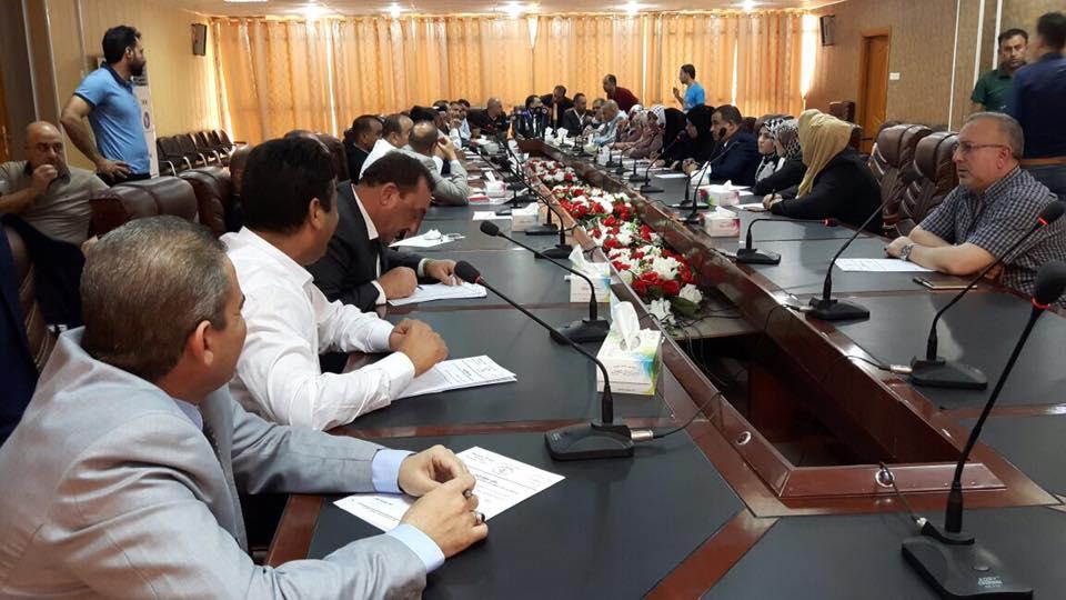 مجلس الانبار يعقد جلسة استجواب المحافظ صهيب الراوي في الخالدية