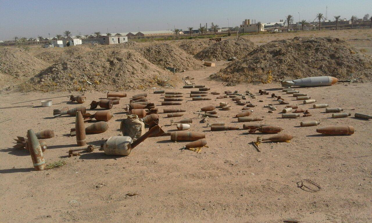 إزالة عشرات الألغام من موقع جامعة الانبار