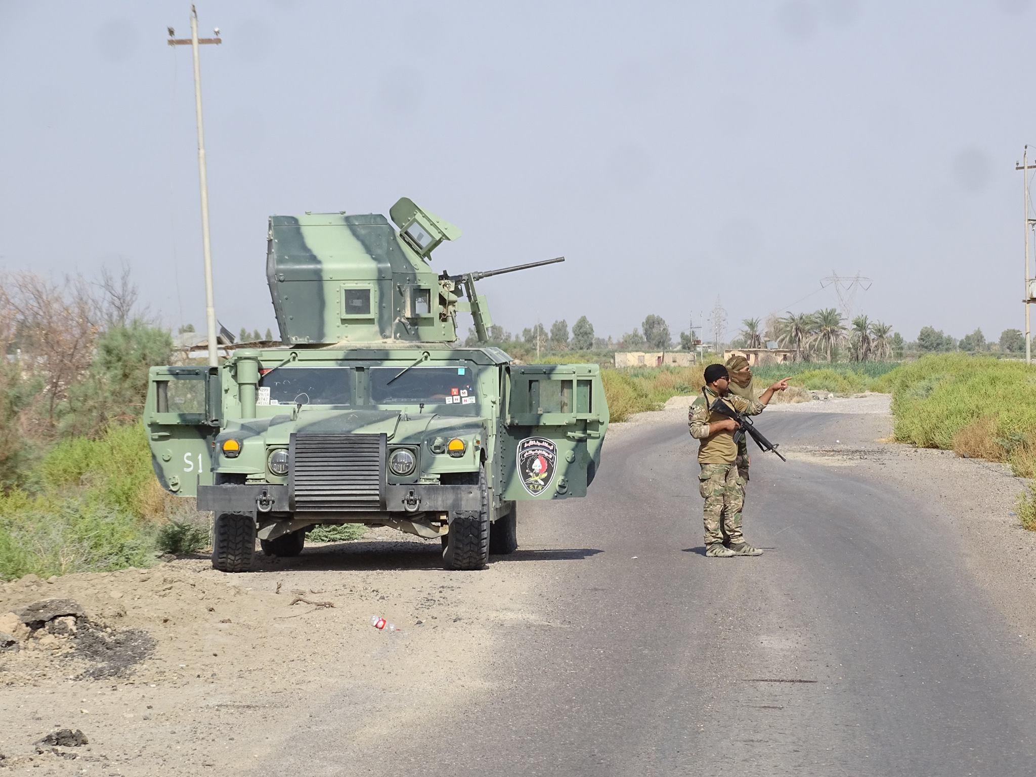 """تدمير أربع منصات صواريخ لـ""""داعش"""" شمال الرمادي"""