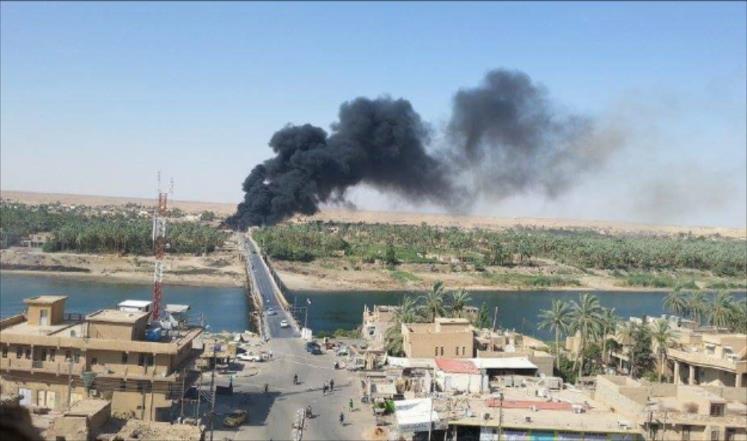 """عمليات الجزيرة تعلن مقتل 10 """"إرهابيين"""" بقصف جوي شمال هيت"""