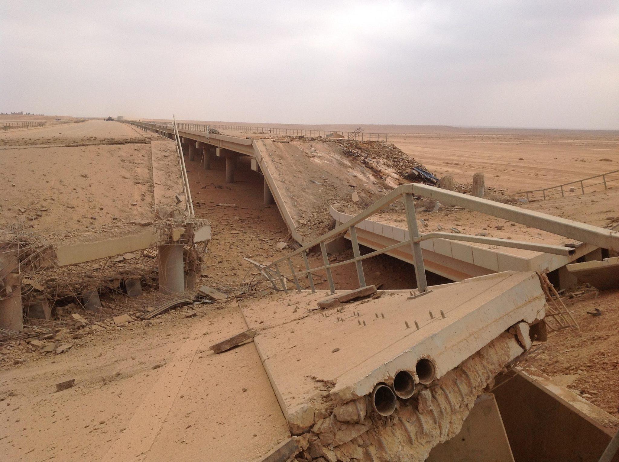 مسؤول محلي: تدمير 85 جسرا جراء العمليات العسكرية والارهابية في الانبار