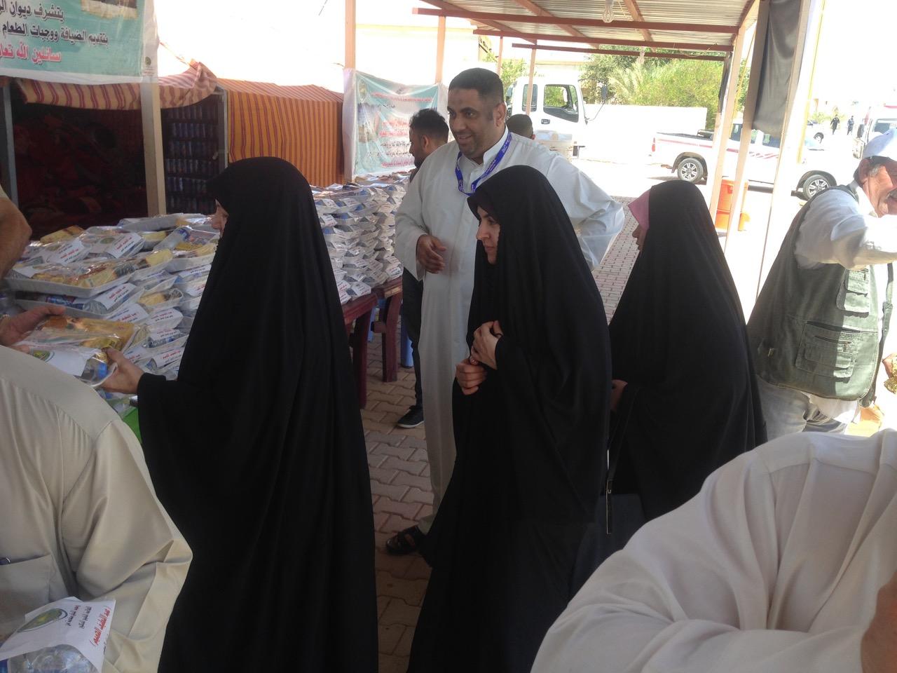 إدارة عرعر تعلن استقبال عشرات الحجاج من أهالي كربلاء المتوجهين للسعودية