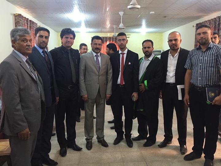 وفد من نقابة المحامين العراقيين يزور محاكم الانبار