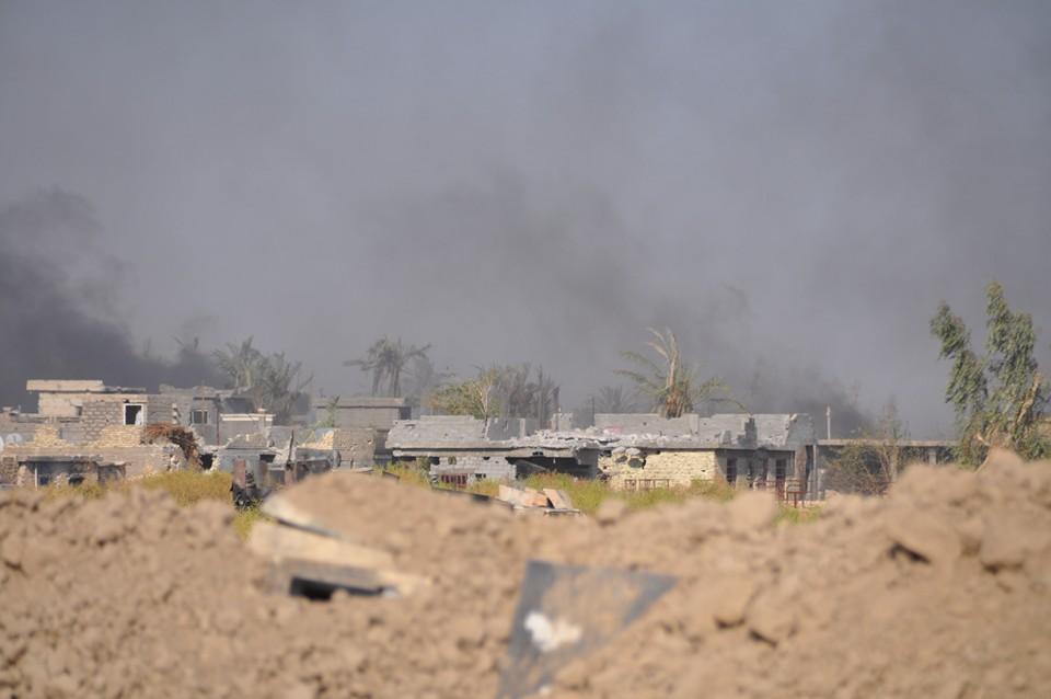 """عمليات الانبار تعلن تحرير """"برافو"""" وترفع العلم العراقي فوقه"""