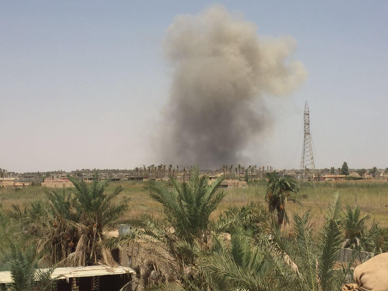 """التحالف الدولي يشن غارات على """"داعش"""" في الرمادي وهيت والبغدادي"""