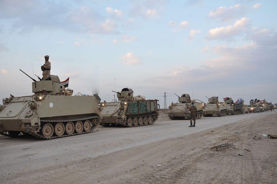 وصول طلائع الفرقة الأولى بالجيش الى الرطبة لمسك المدينة وحمايتها