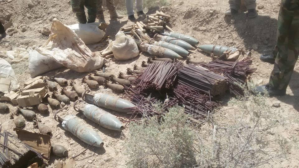 العثور على عبوات ناسفة وخزانات مواد متفجرة وصواريخ في الأنبار