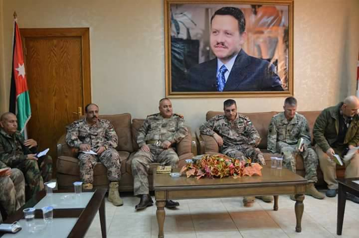 اجتماع مشترك بين حرس حدود الأنبار والأردن في منفذ الكرامة