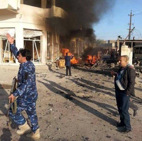 انفجار سيارة مفخخة وسط مدينة الرمادي