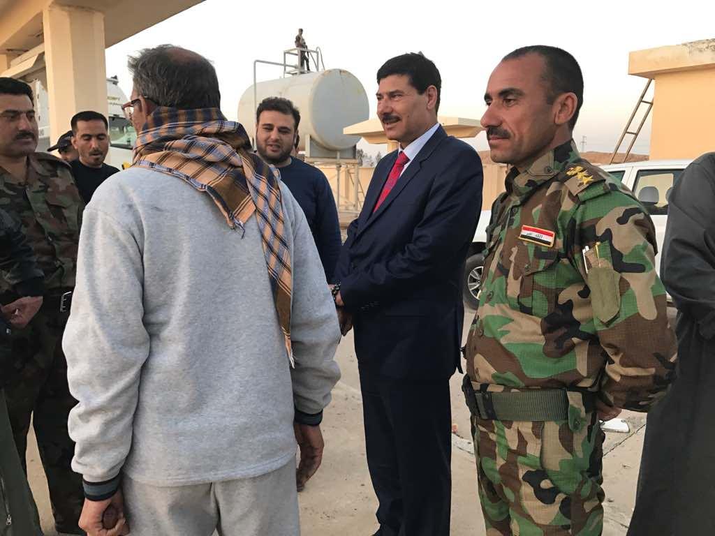 افتتاح اول محطة وقود حكومية في ناحية الفرات بالأنبار