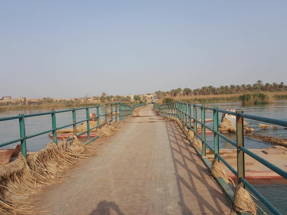 افتتاح جسر الجواعنة في البغدادي بعد تأهيله من قبل الجيش والمواطنين