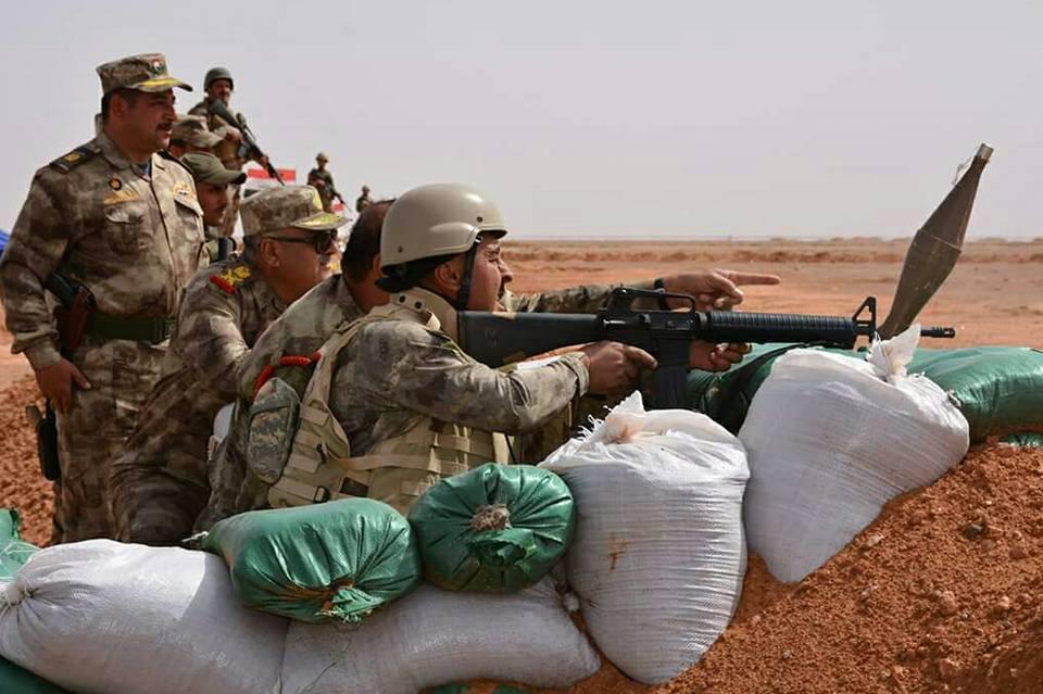 بالصور.. تحصينات لحرس الحدود ضد هجمات داعش بالأنبار