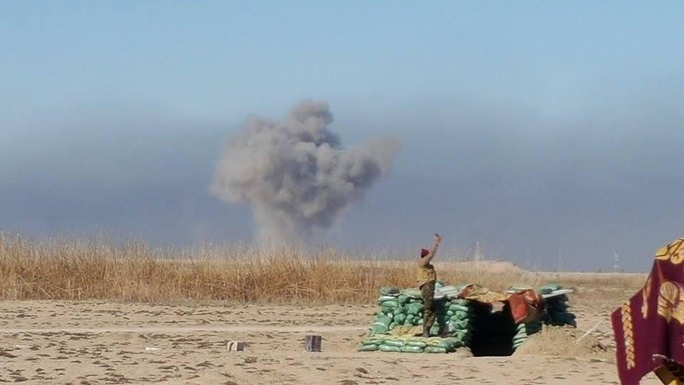 """عمليات الجزيرة تعلن قتل سبعة """"إرهابيين"""" وتدمير عجلتين بقصف جوي شمال راوه"""