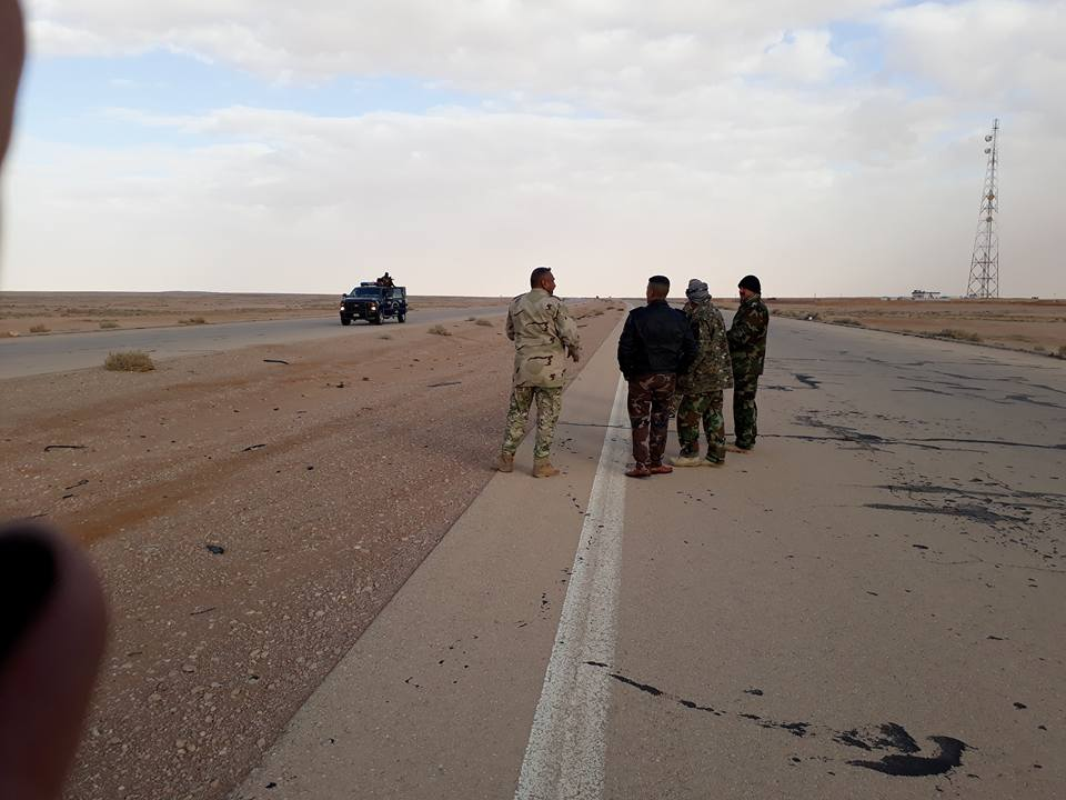 """احباط تعرض لـ""""داعش"""" على مقر لحماية الطرق الخارجية غرب الرمادي"""