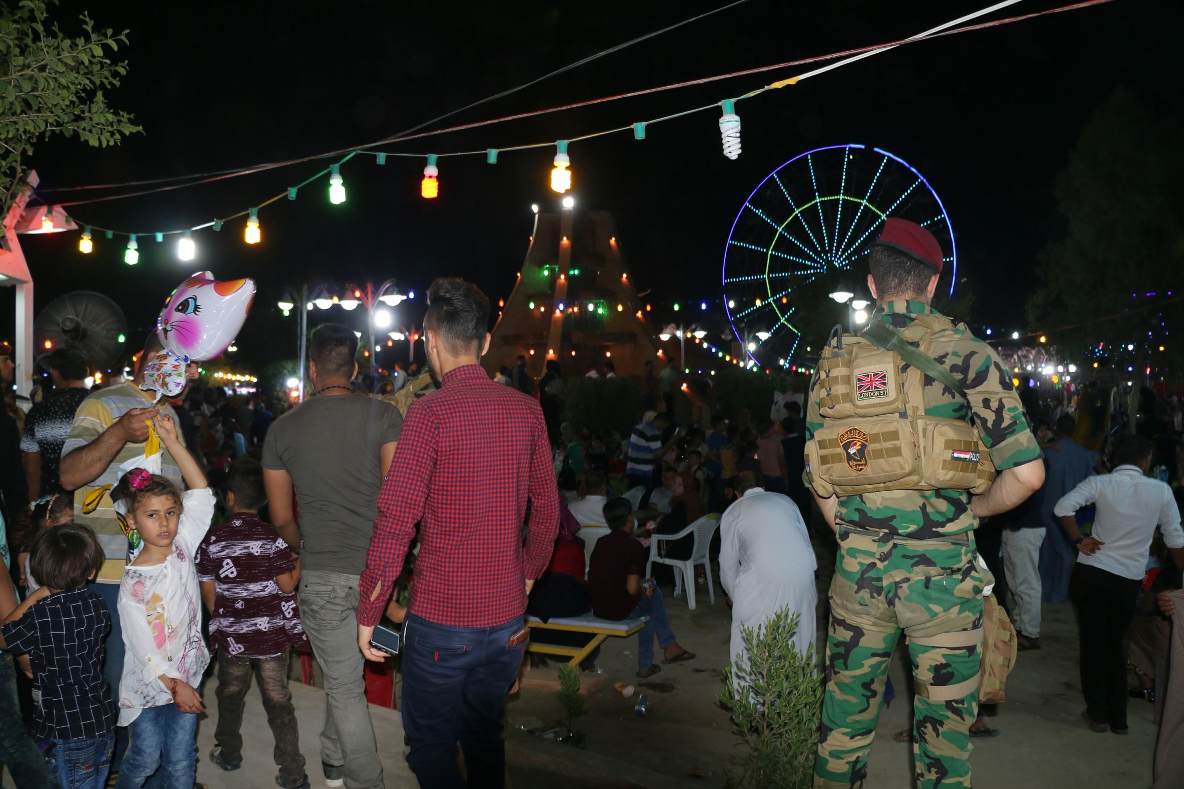 اصابة 7 مدنيين بانفجار قنبلة يدوية في مدينة العاب السندباد وسط الرمادي