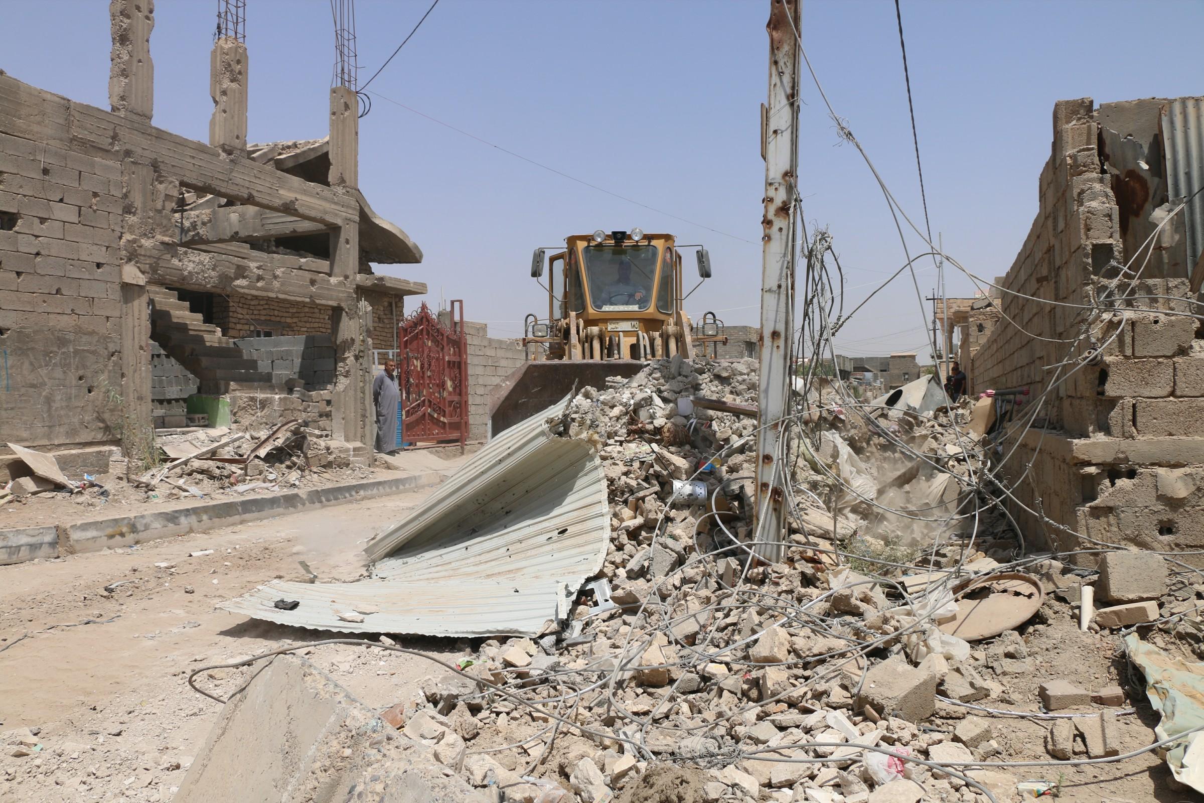 الأمم المتحدة تعيد تأهيل 65 منزلا متضررا بالاعمال الحربية في الرمادي