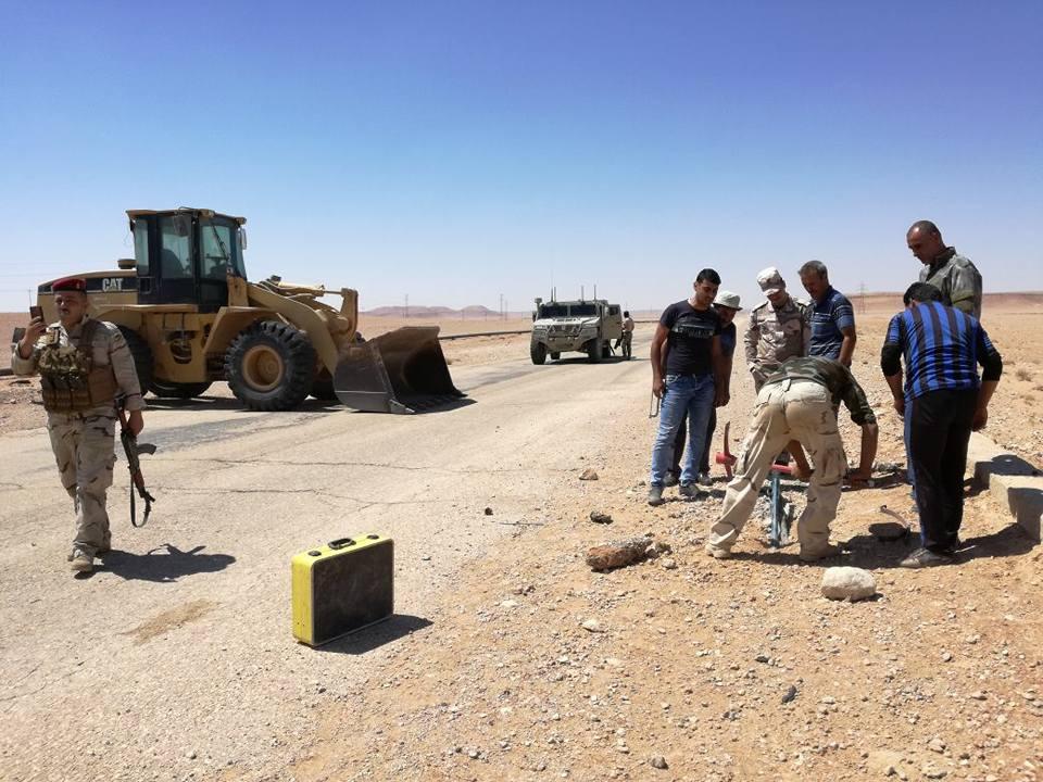"""الحشد يصد تعرضا لـ""""داعش"""" على فريق صيانة في اتصالات الأنبار بالرطبة"""