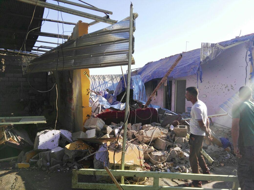 بالصور.. تفجير مقهى شعبي في هيت