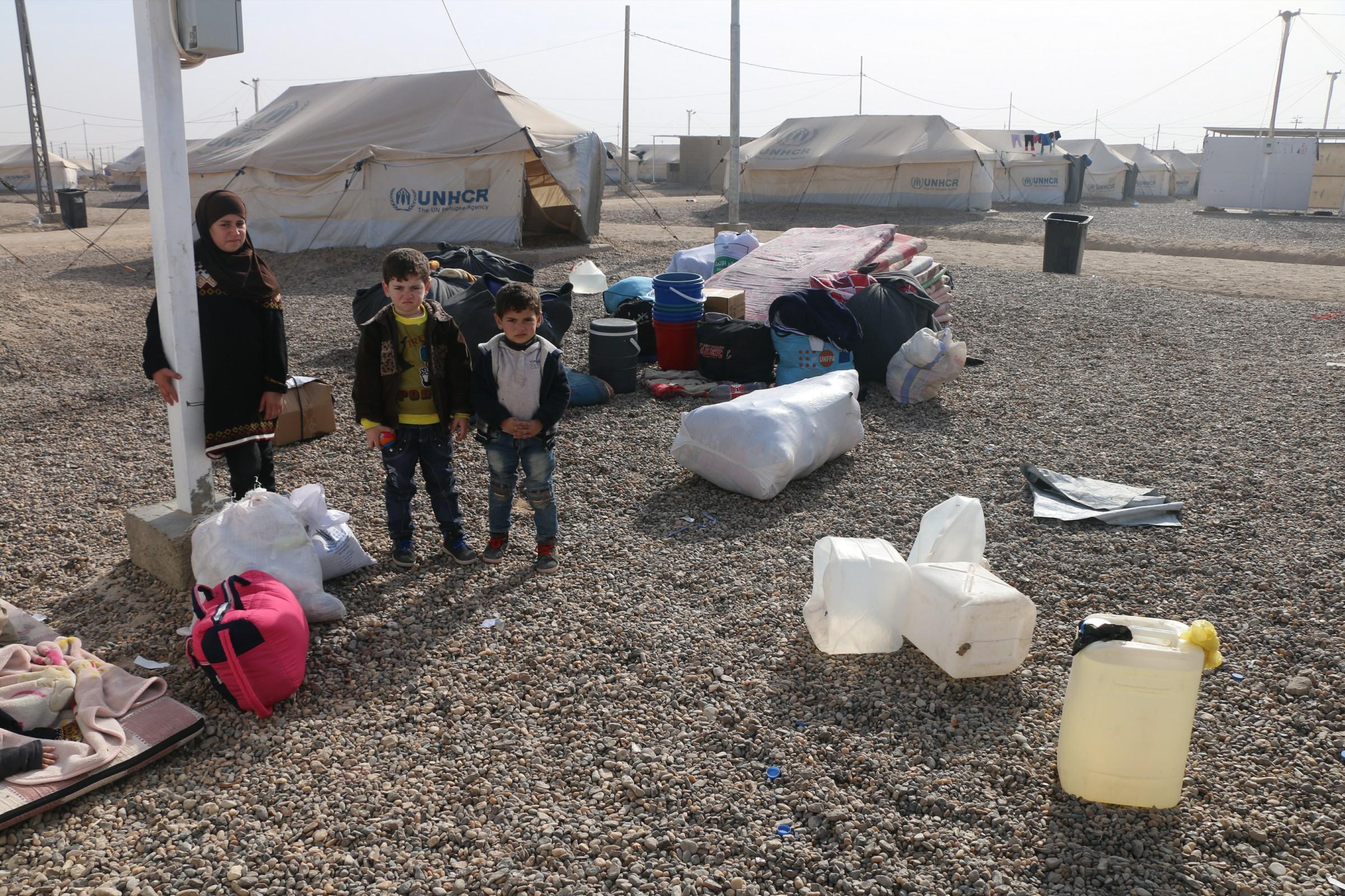 غلق أول مخيم في الأنبار بعد عودة نازحيه لمناطقهم المحررة