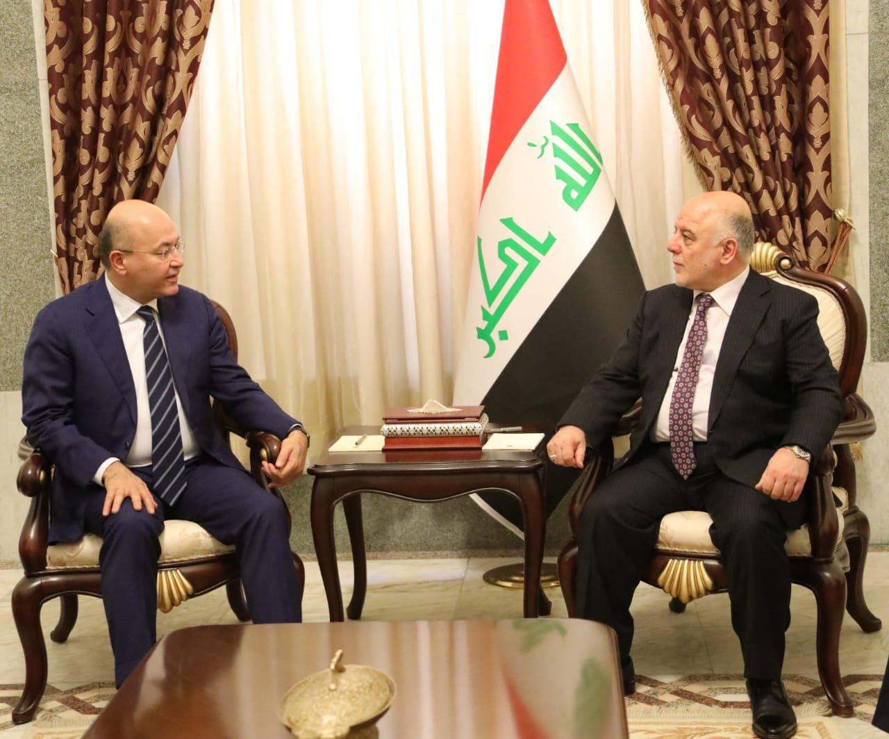العبادي وبرهم صالح يناقشان تشكيل الحكومة المقبلة