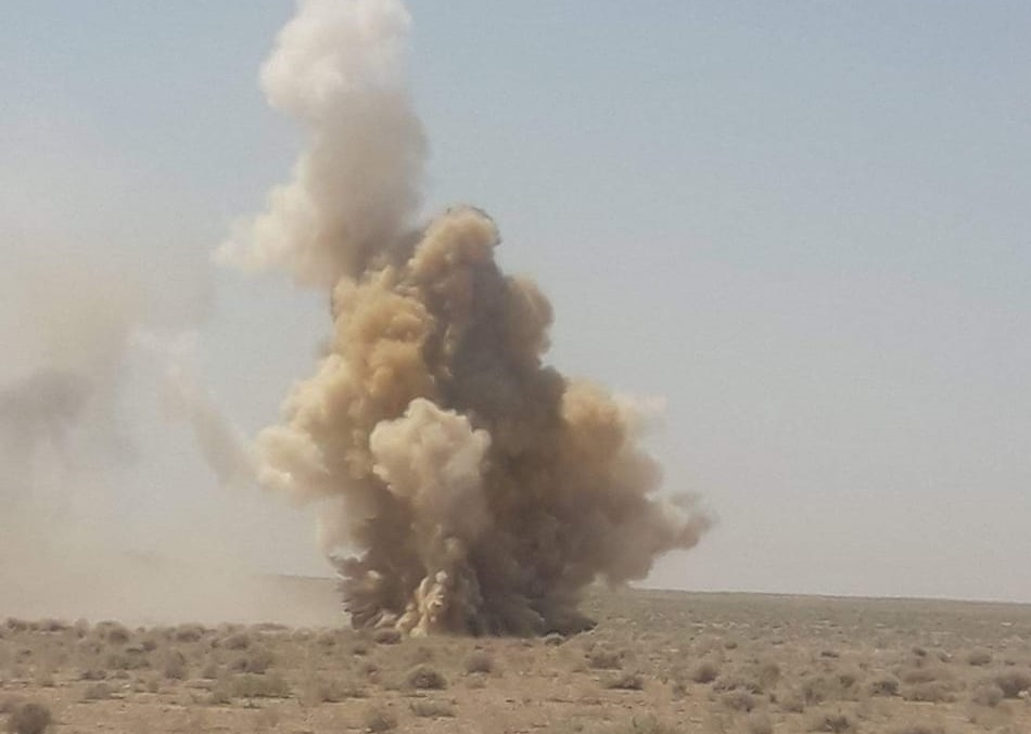 اللواء الركن محمود الفلاحي يعلن تفجير 143 عبوة ناسفة من مخلفات داعش