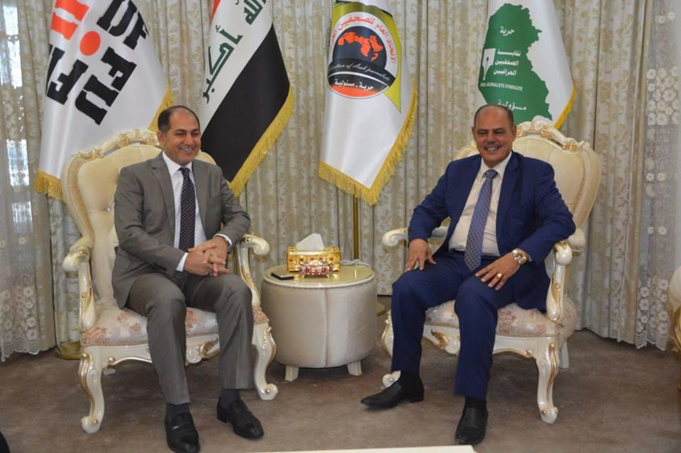 اللامي يستقبل المرشح لمنصب وزير الثقافة حسن طعمة الربيعي