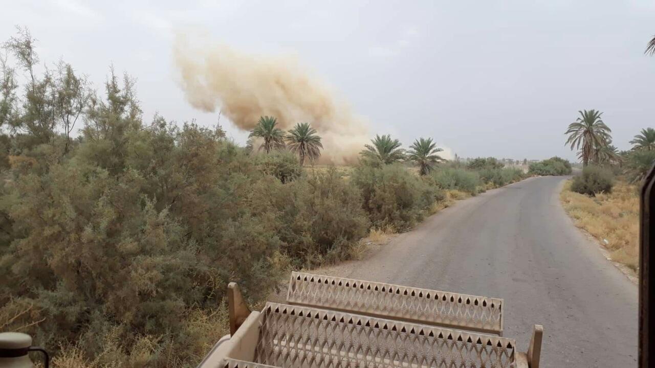 الجيش يفجر 73 عبوة ناسفة وقنبرة هاون غرب الفلوجة