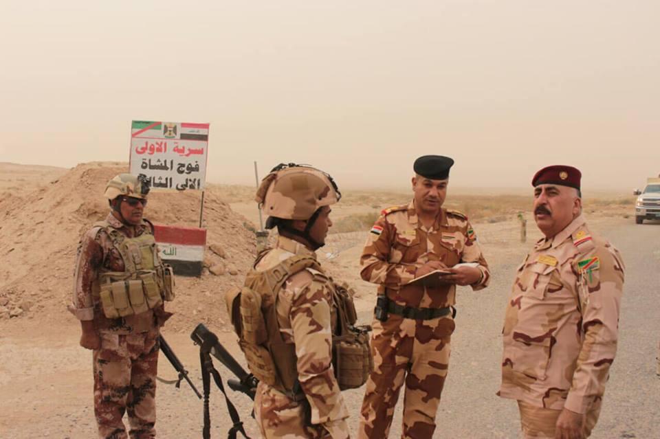 قائد عمليات الجزيرة يتفقد فوجين من الجيش وحشد البونمر غربي الأنبار