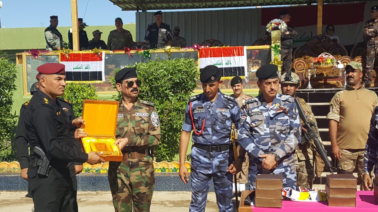بالصور.. تخرج فوج سوات صلاح الدين في مركز تدريب شرطة الأنبار