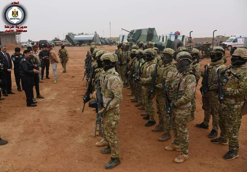 اللواء هادي رزيج يزور الرطبة ويشيد بدور الفوج التكتيكي في مطاردة داعش