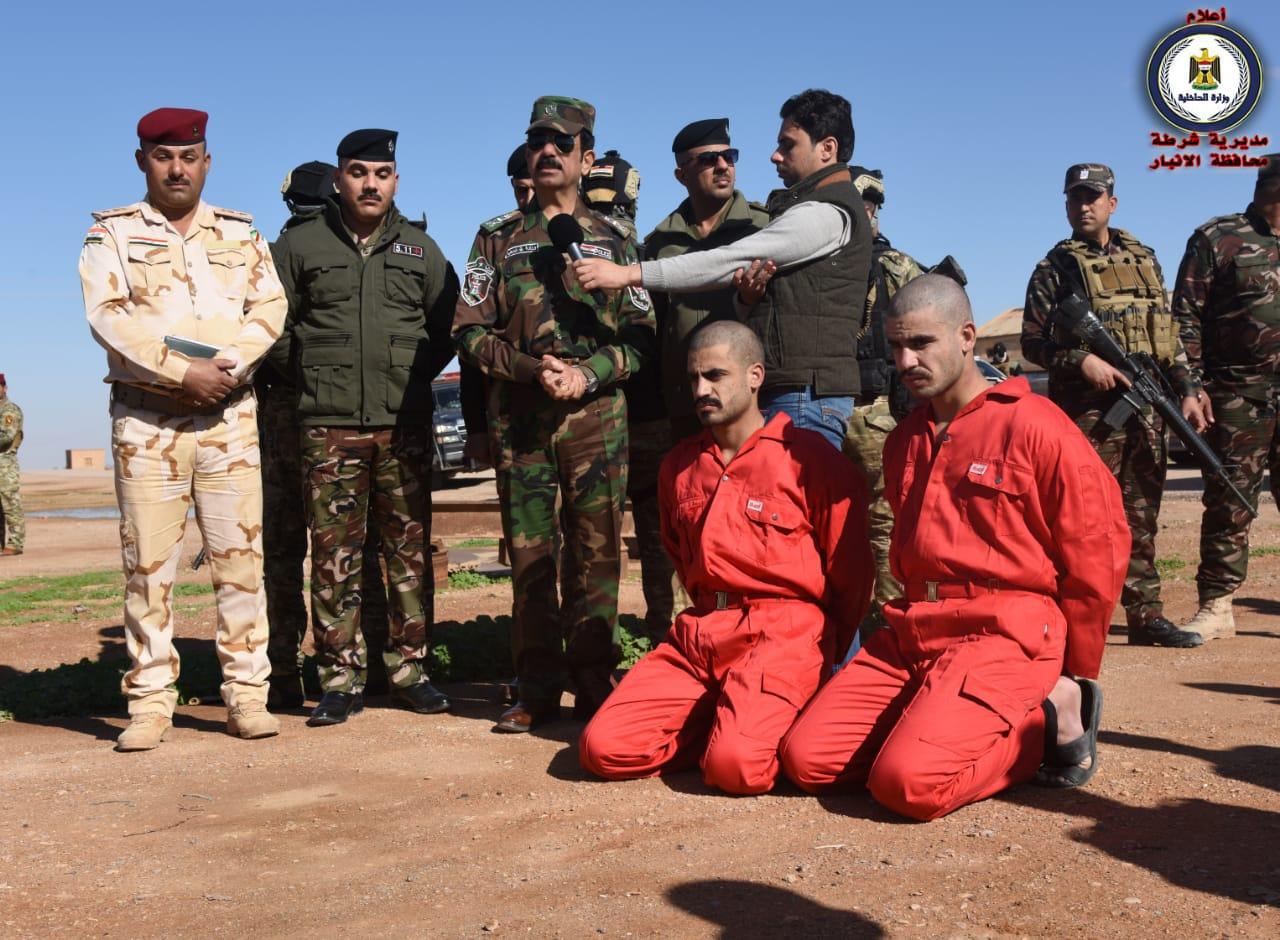 شرطة الأنبار تجري كشف دلاله لإرهابيين اثنين في النخيب