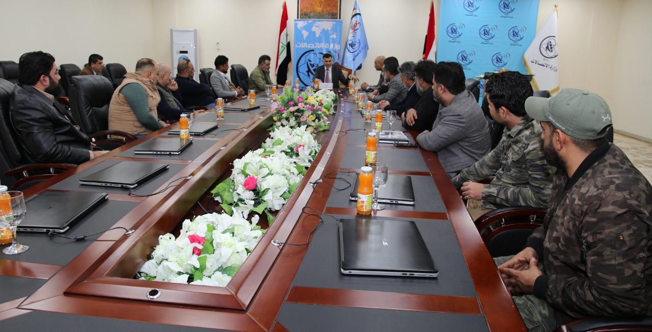 وزير الاتصالات يستقبل مجموعة من مقاتلي الحشد الشعبي من منتسبي الوزارة