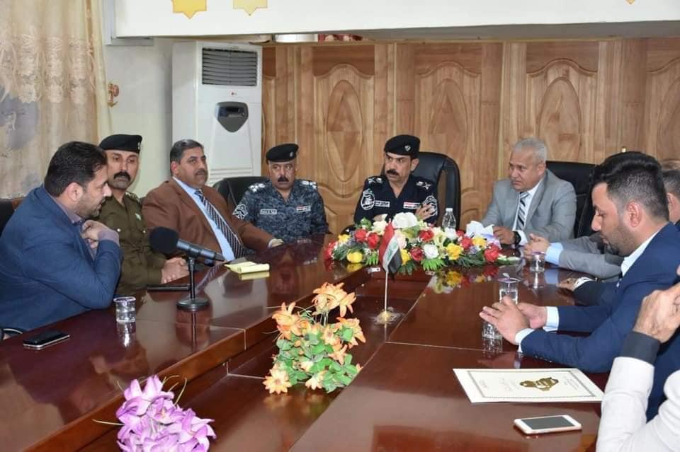 صحفيو الانبار يباركون لقيادة شرطة الانبار عيدهم ال 97