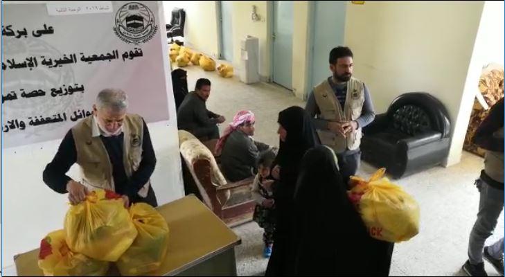 الجمعية الخيرية توزع سلات غذائية على المتعففين بالفلوجة وضواحيها