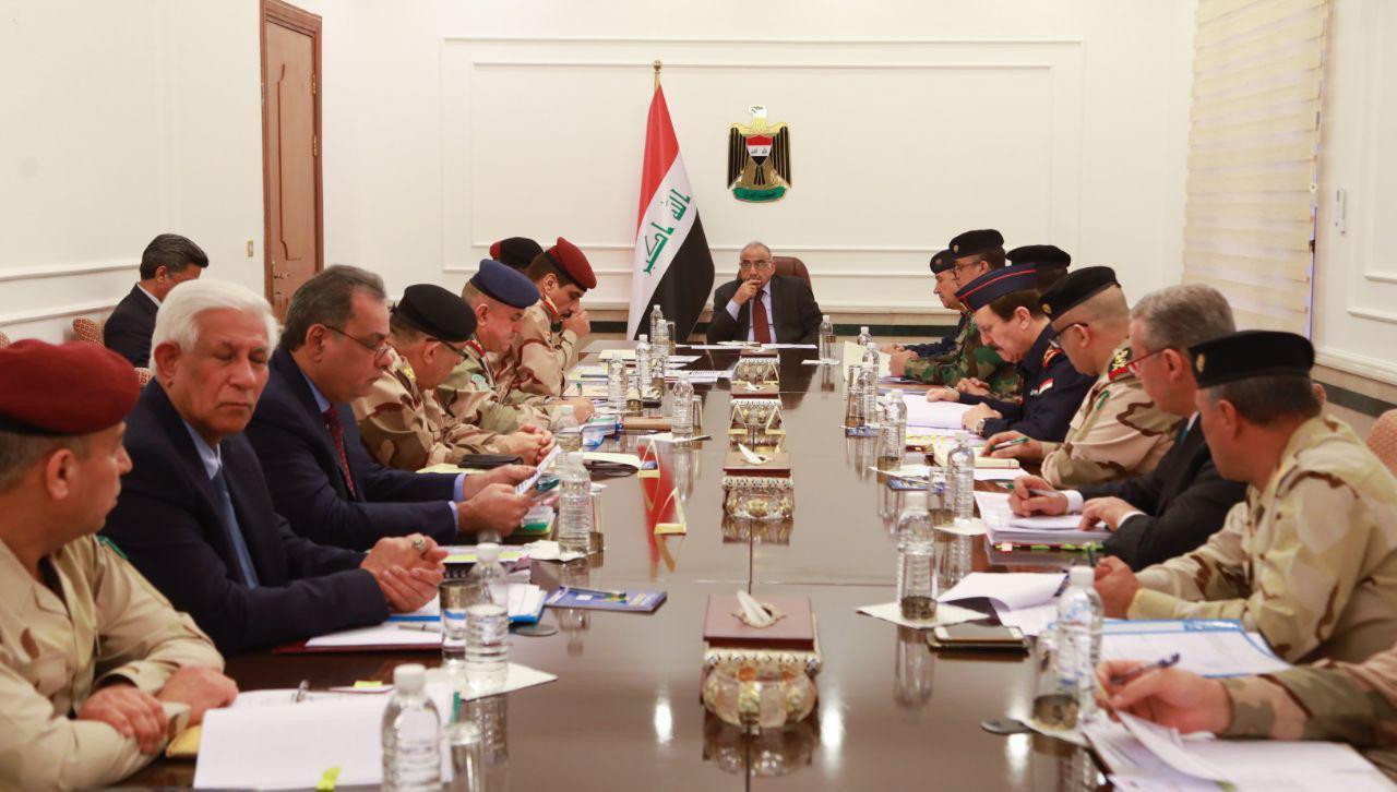 عبدالمهدي يترأس اجتماعا لهيئة التسليح في وزارة الدفاع