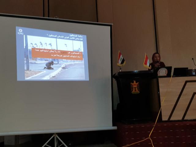 الصليب الاحمر ينظم ورشة تدريبية للصحفيين في الفلوجة