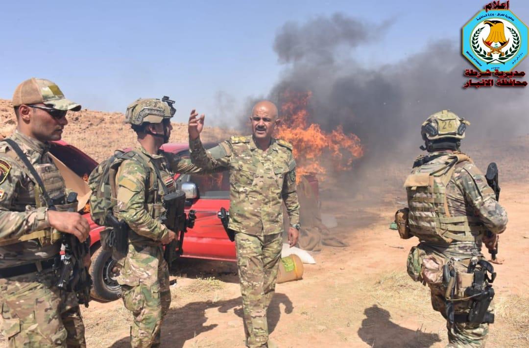 """بالصور.. الفوج التكتيكي يدمر معسكرين لـ""""داعش"""" في منطقة حسينيات – عامج"""