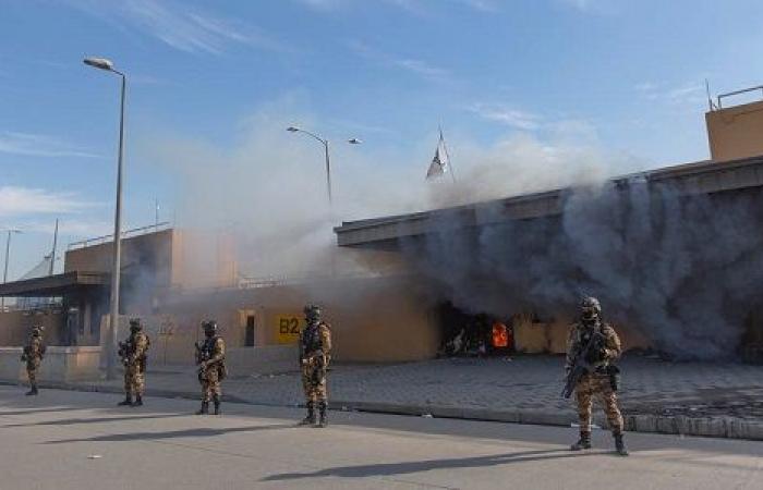 سقوط صاروخين في محيط السفارة الأمريكية ببغداد