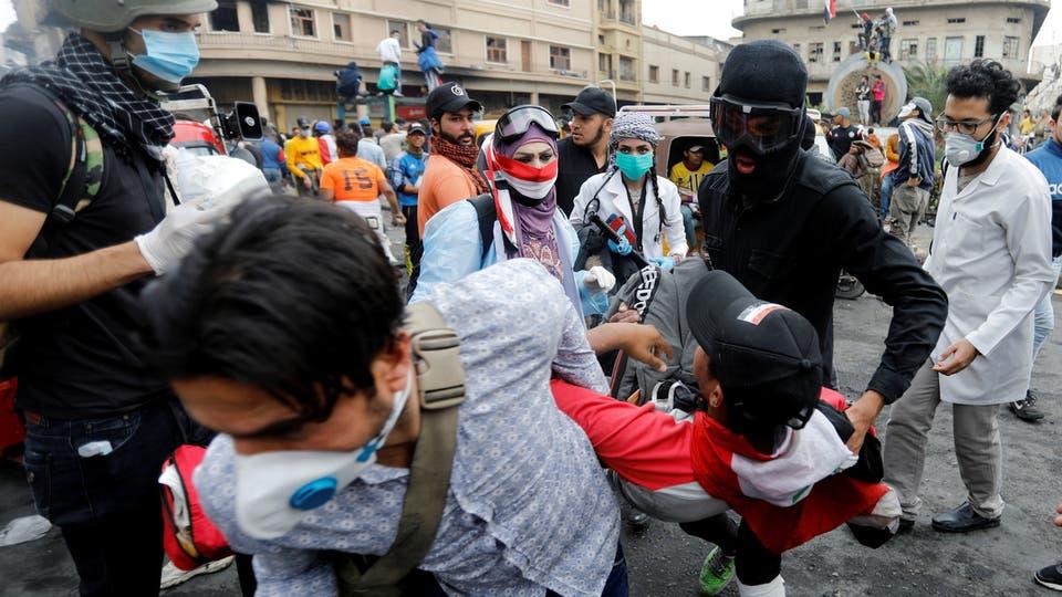 مقتل متظاهر وإصابة 4 برصاص مجهولين في الناصرية