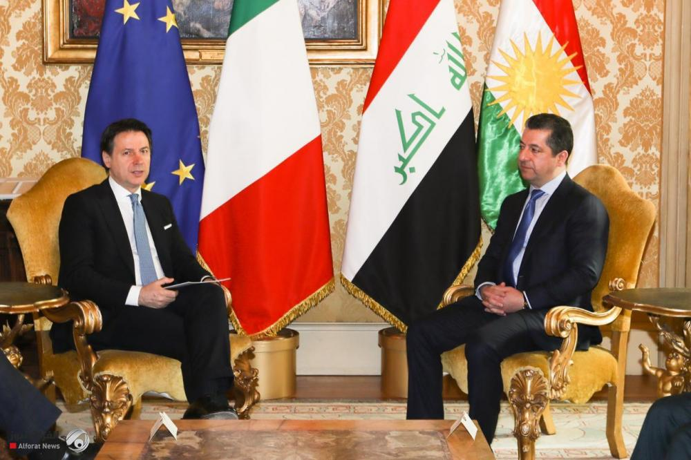 بارزاني يدعو الشركات الإيطالية للاستثمار في كردستان العراق
