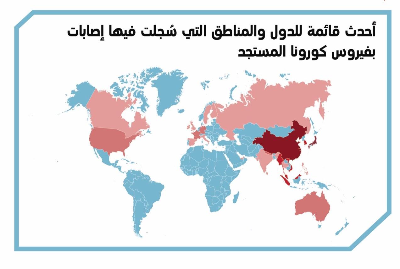 """""""كورونا الأحد"""".. 136 إصابة جديدة في 9 دول عربية """