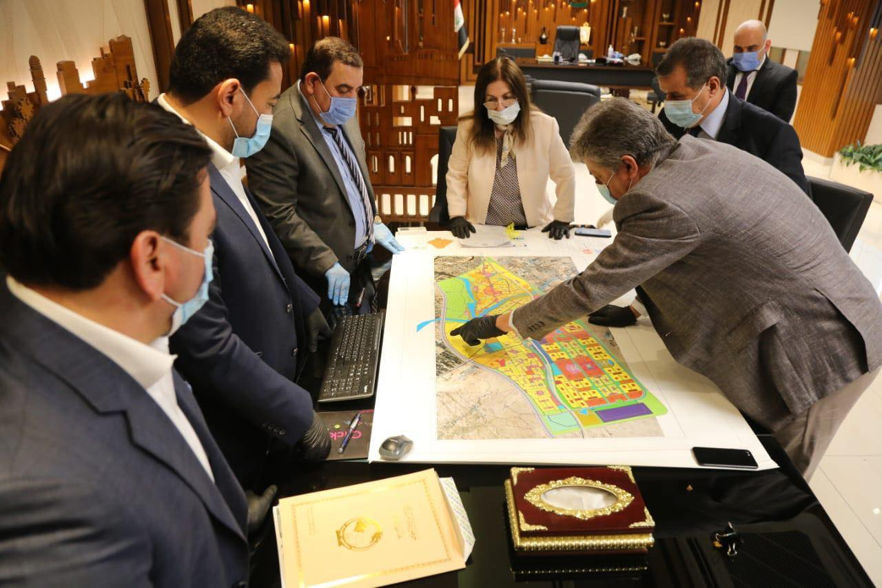 محافظ الأنبار يناقش المشاريع المتوقفة مع وزيرة البلديات ويعلن اكمال التصميم الأساسي للرمادي