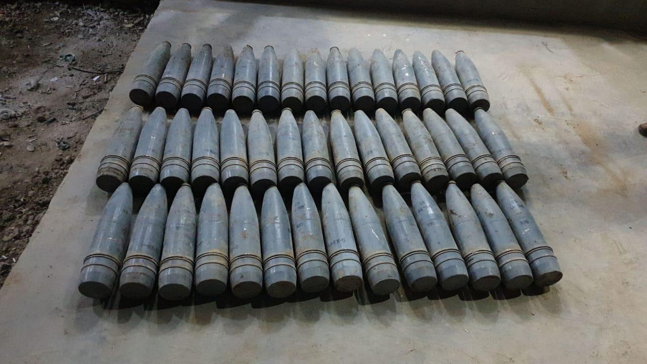 ضبط 50 قذيفة معدة للتفجير شرق الرمادي