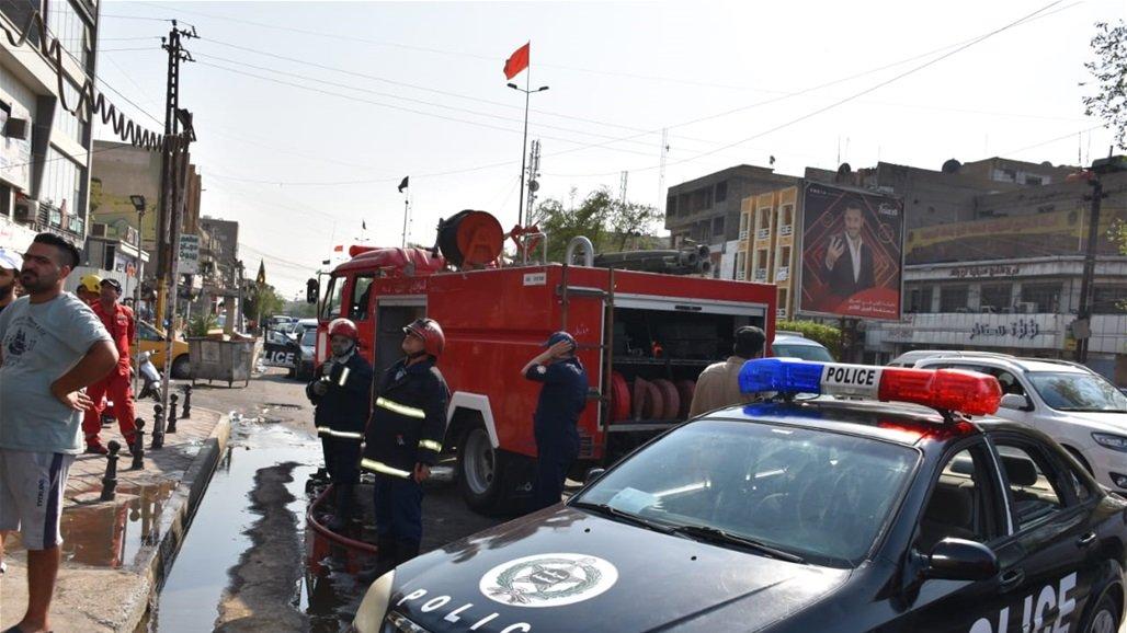الدفاع المدني ينقذ عددا من العوائل ويخمد حريقاً داخل بناية شرق بغداد